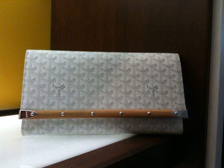 Goyard clutch in white