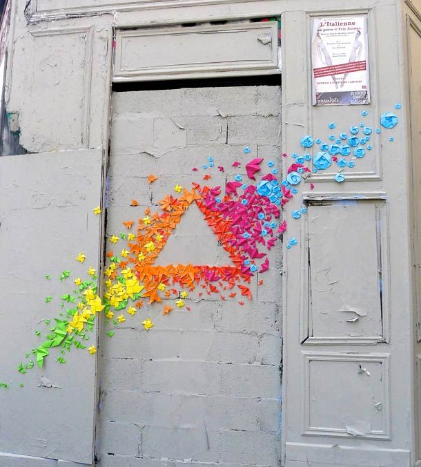 Origami Street Art => will become bedroom art soon :)