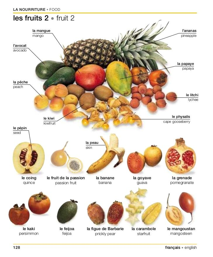 Vocabulaire : les fruits