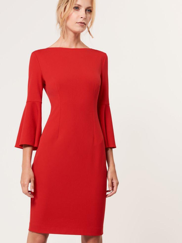 LADIES` DRESS, ŠATY, OVERALY, Červená, MOHITO