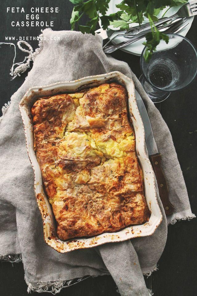 Feta Cheese Egg Casserole | www.diethood.com