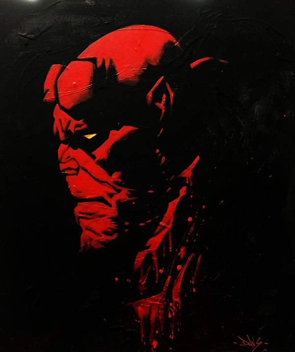 Hellboy Marvel Peinture by Dave Baranes