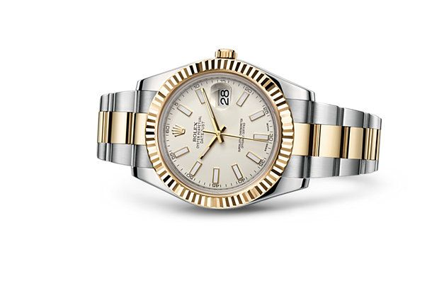Rolex - Oyster Perpetual Datejust II, ref.116333 - Self-winding, cal.3136, 4Hz, 48hr p.r., date - 41mm, combination of 904L steel and 18 ct yellow gold case, ivory coloured dial ~7.5k