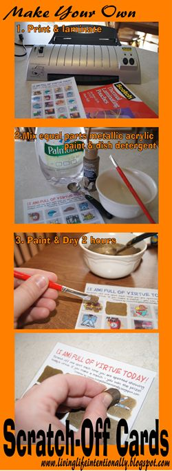 It's so simple to make your own scratch off paint. Step-by-step directions and ideas for what to do with your scratch off cards included!