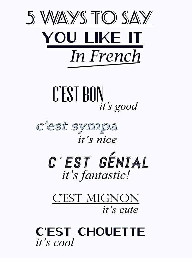 French, Learning french and In french on Pinterest