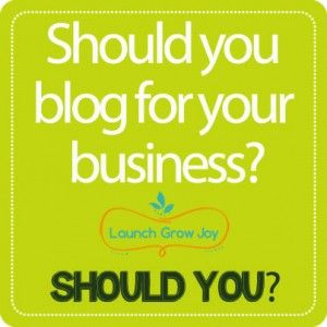 Are you wondering if you should blog for your business? Blogging, after all, takes time, effort, planning and some writing skills and the results from it might not be immediate in terms of sales. If you don't have a blog yet, you probably have many reasons for it: