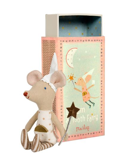 Girl Tooth Fairy Mouse Stuff Toy in Box by Maileg at Gilt