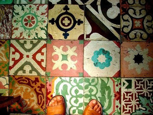 Moon to Moon: Under your feet... Rugs and tiles..