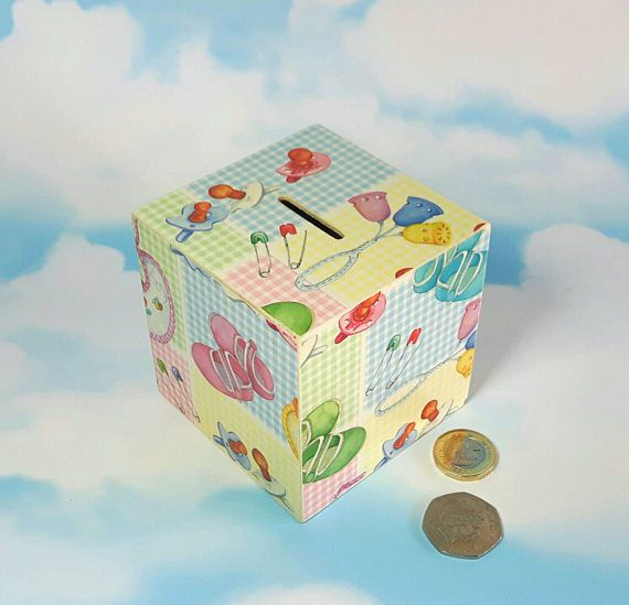 Check out this item in my Etsy shop https://www.etsy.com/uk/listing/259872501/new-baby-gift-money-box-nursery-decor
