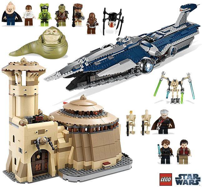 Palcio de Jabba e a Nave Malevolence do General Grievous  Sets