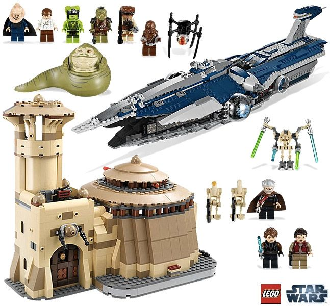 Palácio de Jabba e a Nave Malevolence do General Grievous - Sets LEGO Star Wars 2012