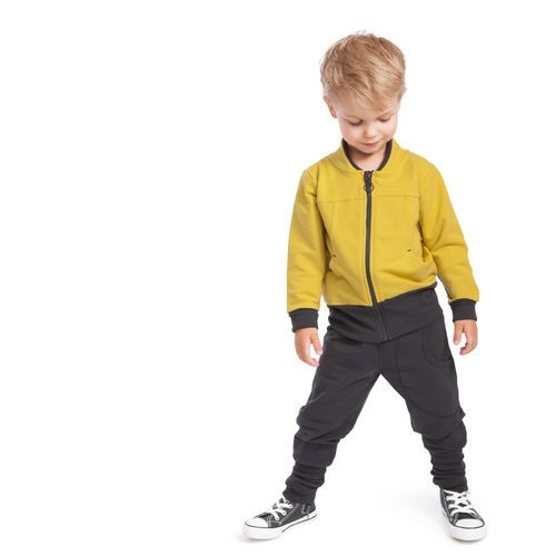 Trendy Grandpa Jacket, Saffron. All NOSH products are made of top quality organic cotton