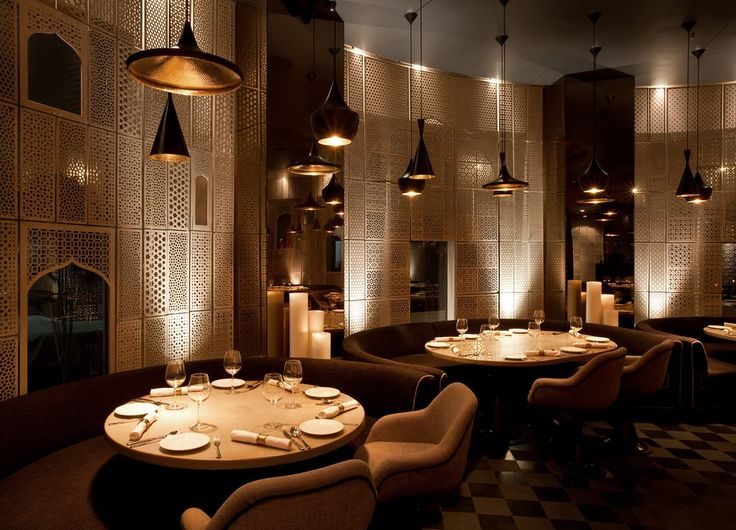 all furniture was custom designed for the project - Beaded Inset Restaurant Interior