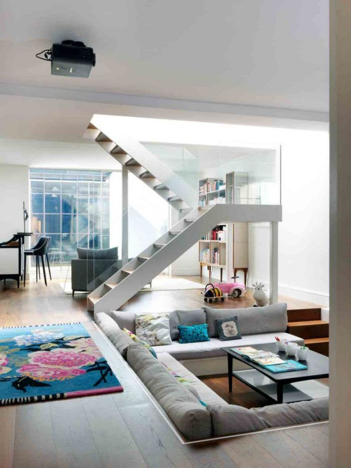 Stunning Staircase Ideas Sunken Living Room Family Room Design Living Room Diy #stairs #in #living #room #ideas