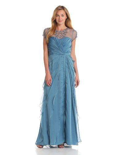 Adrianna Papell Women's Flutter Jewel Gown, Mallard, 12 Adrianna Papell, http://www.amazon.com/dp/B00BUJAJMY/?tag=pinterest0e50-20