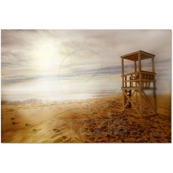 Vintage Beach Poster from Zazzle.com ❤ liked on Polyvore featuring backgrounds, landscape and pictures