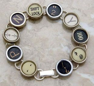 So-cool typewriter keys bracelet for a night on the town!