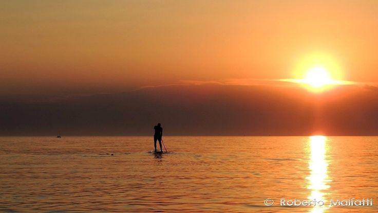 Paddling towards the sunset #sunset