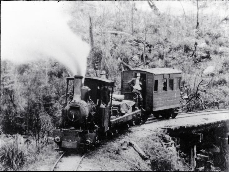 'Wee Georgie Wood' Fowler 0-4-0 on the Tullah Tramway that ran from Farrell siding to Tullah on Tasmania's west coast. 'Wee Georgie Wood' is preserved at Tullah in operating condition. [n.d.] (UON Library,University of Newcastle, Australia)