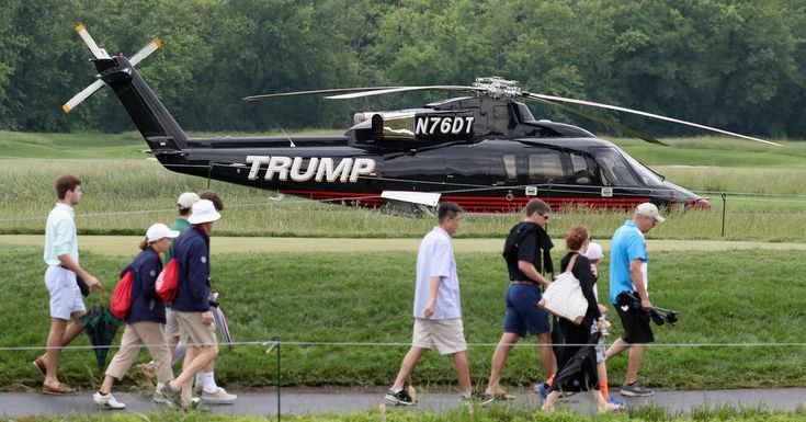 cool Senior P.G.A. Championship, Held at Trump Nationwide Golf Membership, Attracts Protests