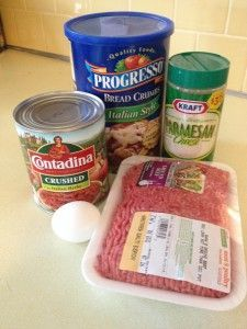 4 Ingredient Italian Meatball Recipe, substitute crushed chex with Italian herb spice for breadcrumbs