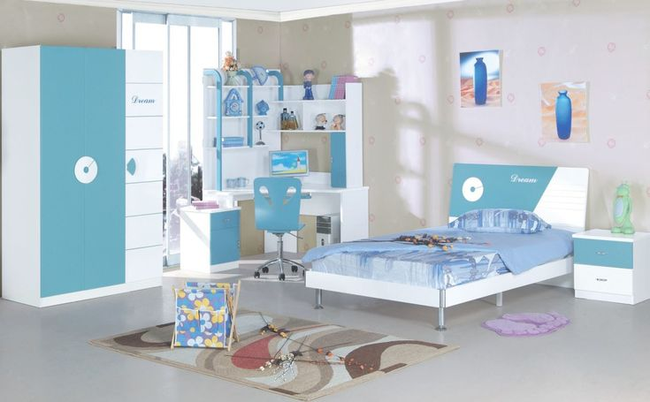 Contemporary Rugs Mixed With Modest Beige Wall Decorating Ideas And Outstanding Kids Bedroom Sets