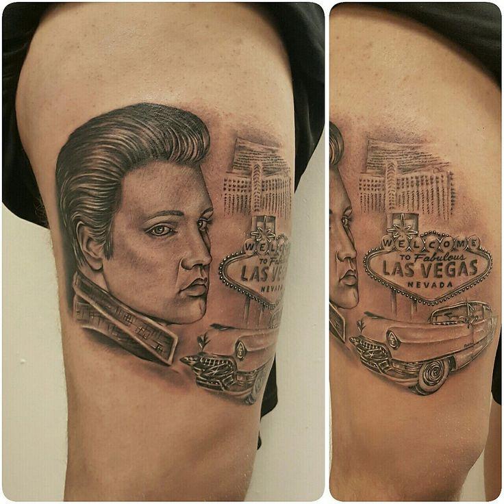Elvis Presley Las Vegas tattoo