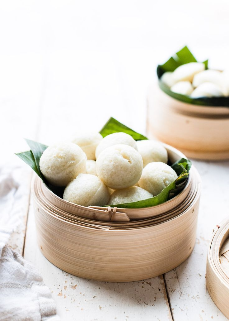Filipino steamed rice cakes