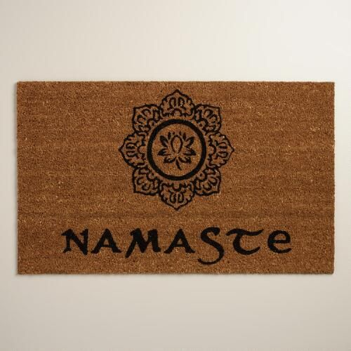 One of my favorite discoveries at WorldMarket.com: Namaste Doormat