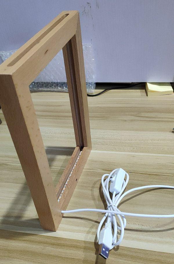 Custom Made 3d Led Photo Frame Lamp In 2020 Led Lamp Diy Photo Frame Design Photo Frame