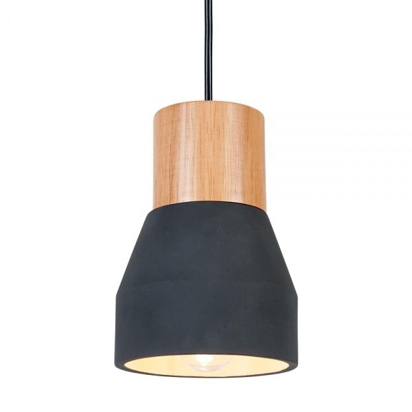 Cult Living Laval Concrete And Wood Light In Black Furniture Uk