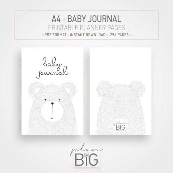 A4 printable baby journal