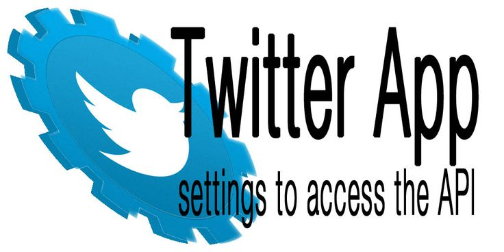 Twitter App settings to access the API This post will show how to create and setup a Twitter App to be able to use Twitter's API.  http://www.behind-the-scenes.co.za/twitter-app-settings-to-access-the-api/