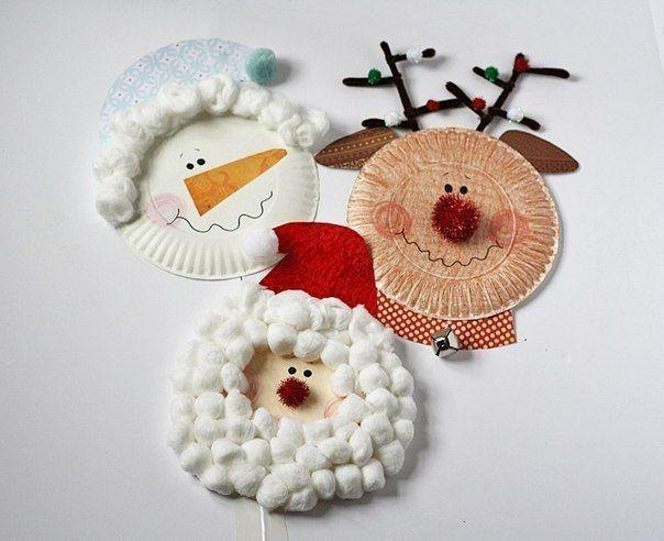 Auf folgende Seite erkennen Sie, wie kann man die wunderschöne Weihnachtsdeko mit Kindern aus Papptellern basteln. Die Anleitung ist auch dabei.