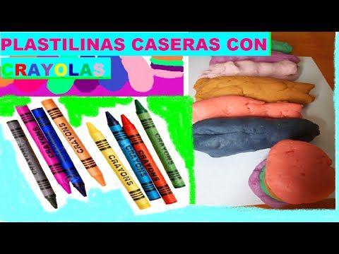 Como hacer PLASTILINA CASERAS CON CRAYOLAS | DIY CRAYON PLAYDOUGH - YouTube