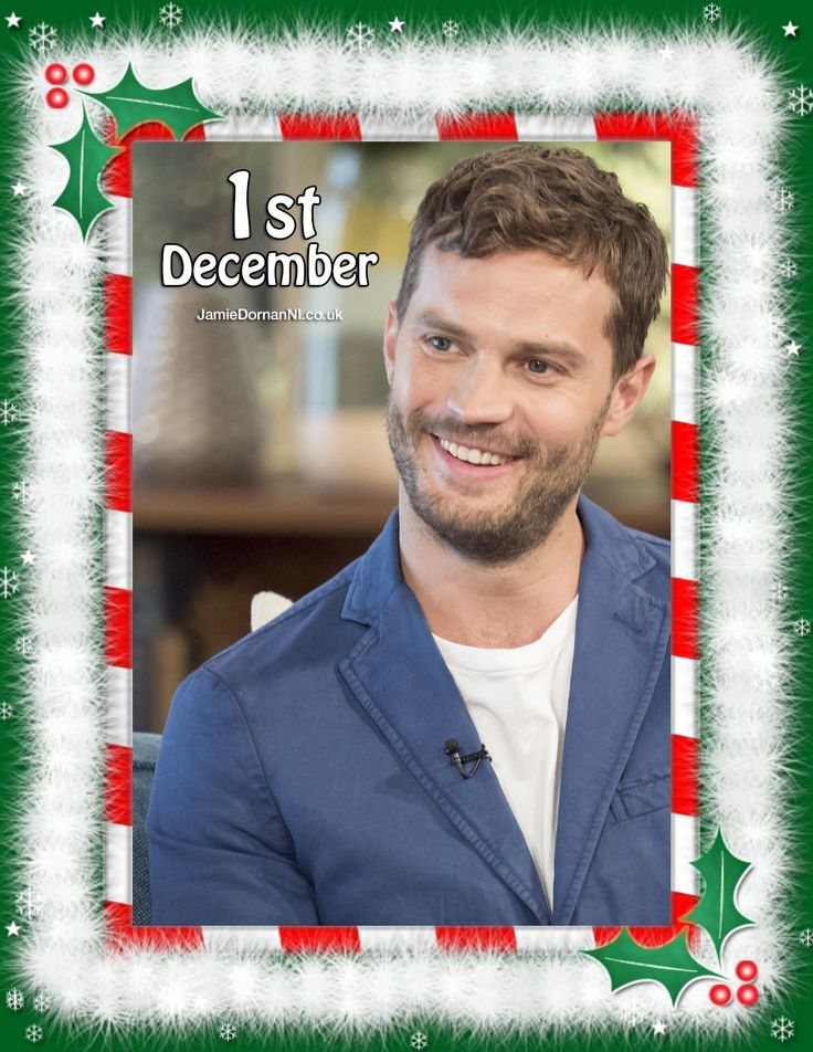 Happy 1st December! Here's day 1 of our Jamie Dornan Advent Calendar as we count down to Christmas 2016! www.jamiedornanni.co.uk