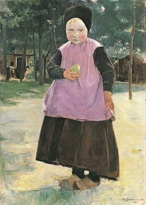 Eva (1883), Max Liebermann (1847-1935). Hamburger Kunsthalle, October 1993.
