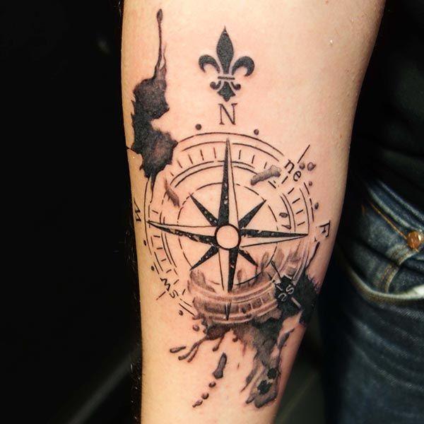 Ms de 25 ideas increbles sobre Brjula en Pinterest  Tatuajes
