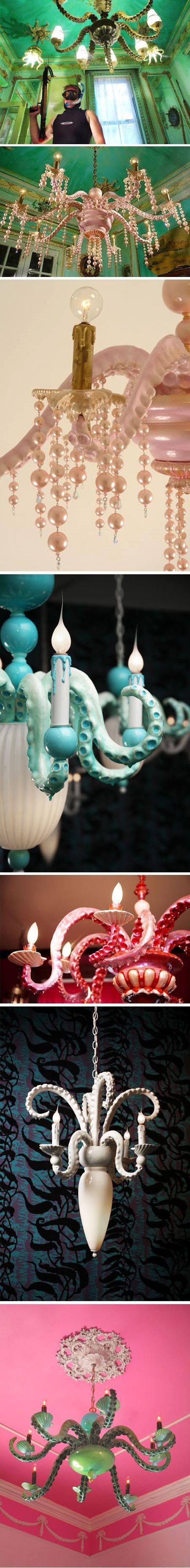 octopus chandeliers