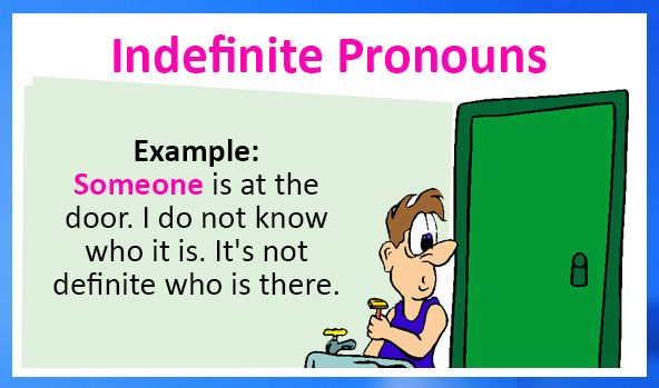 Learn English Online - Indefinite Pronouns. What are indefinite pronouns? Examples and exercises. Free and printable worksheets for different ability levels at Kids World Fun.