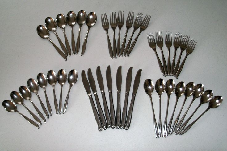 International Trade Winds Jamaica Stainless Flatware 41 Piece Set by VintageVintageStore on Etsy