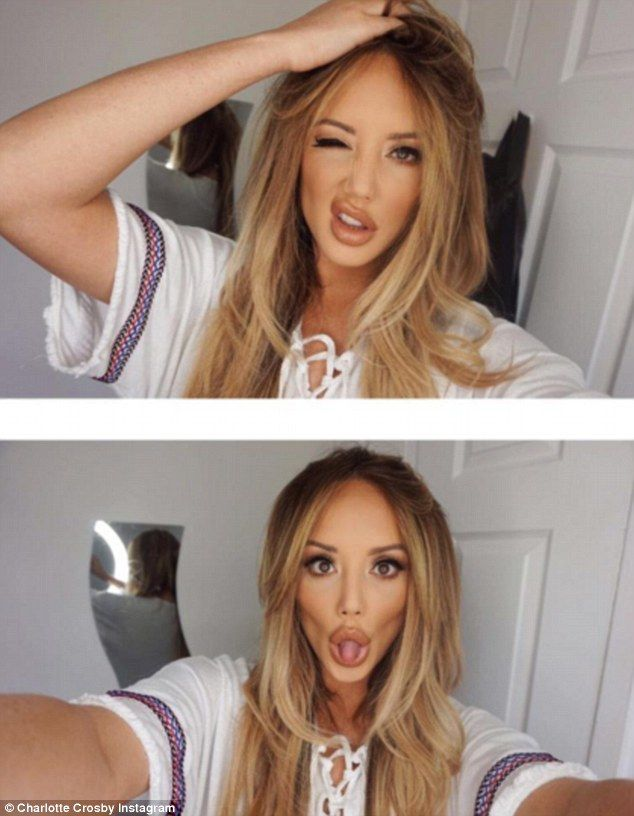 Plumped up: While Vicky has always opted out of facial surgery, the other girls have always been willing, including Charlotte Crosby (pictured) after having a nose job as well as Holly Hagan and Chloe Ferry, who have all had lip fillers among other surgeries