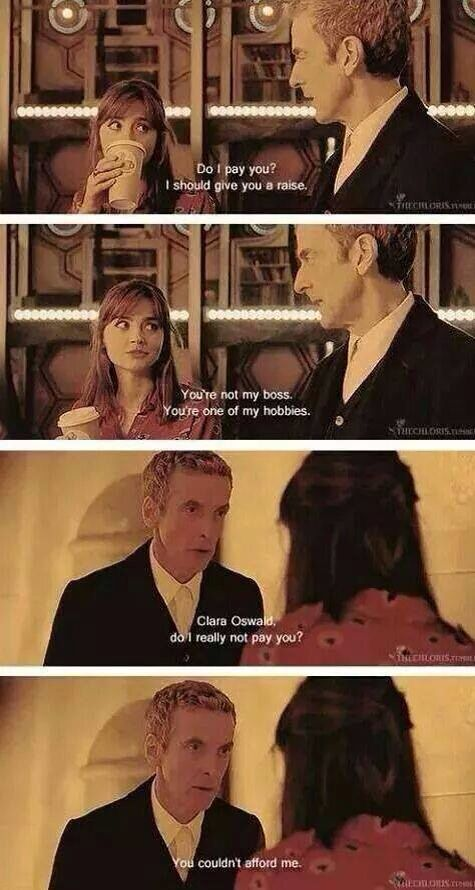 This Doctor / Companion relationship is far better viewing than the last - I'm starting to enjoy Clara.