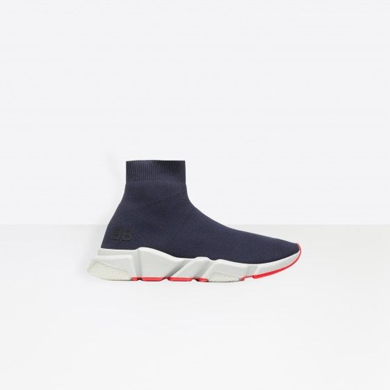 Shop Balenciaga Trainers With Two-Tone Sole Navy Men in Balenciaga Sale online with Balenciaga Sneakers Sale and Cheap Balenciaga #fashion #lifestyle #shoes #sneakers #spring #ss18