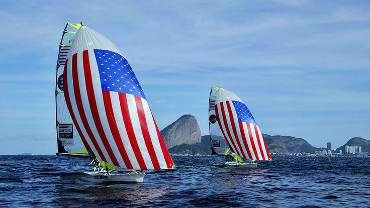 America's US Sailing proudly unfurls its sails ahead of the 2016 Olympic games. Good luck Team USA!