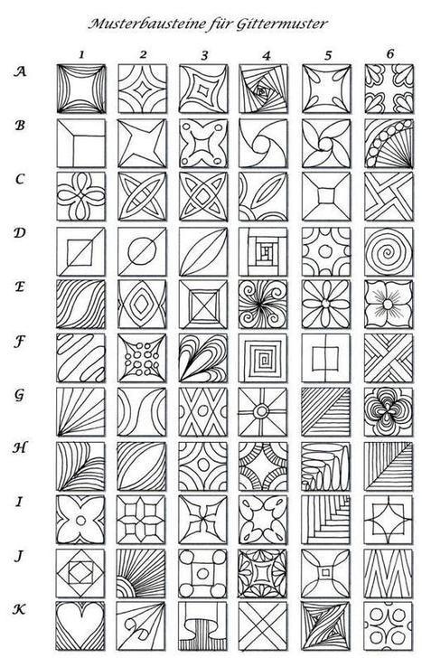 Musterbausteine | Artistic Line Designs-all free | Scoop.it