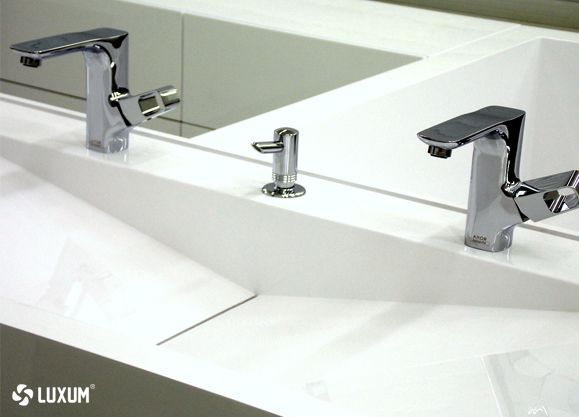 modern custon made washbasin with outflow line