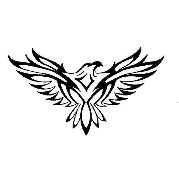 Tibal Hawk Tattoo Design Tribal Eagle Tattoo Tribal Tattoo Designs Eagle Drawing