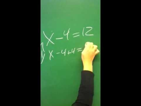 Natalie fra 6. Klasse viser ligninger