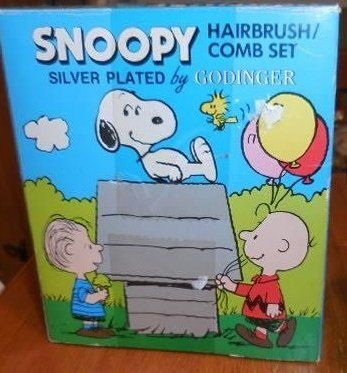 Peanuts Baby Snoopy & Charlie Brown Silverplated First Hair Brush & Comb - Keepsake Hairbrush @ niftywarehouse.com #NiftyWarehouse #Peanuts #CharlieBrown #Comics #Gifts #Products